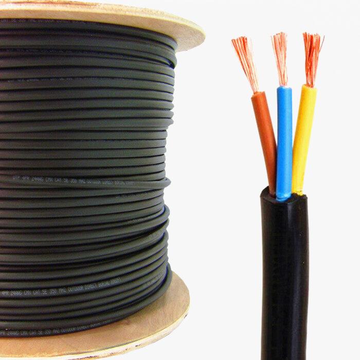 Хар өнгийн цахилгаан кабель.